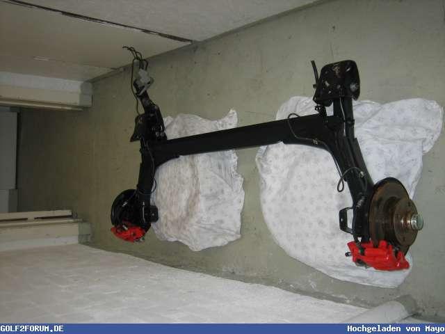 kompeltte gti hinterachse alles neu biete vw golf 2. Black Bedroom Furniture Sets. Home Design Ideas